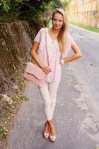 Arafeelcom top - Arafeelcom bag - H&M pants - LaLa heels