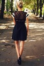 Black-deichmann-heels-white-new-yorker-shirt-black-new-yorker-skirt