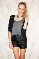 Cubus necklace - Bik Bok shorts - Pimkie cardigan - Primark top