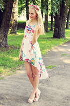 Sheinside dress - LaLa heels - DIY hair accessory