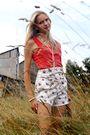 Red-h-m-top-white-zara-shorts-black-graceland-shoes-pink-bijou-brigitte-br