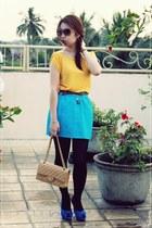 Chanel bag - Zara heels - Zara skirt