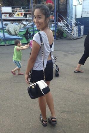 off white Aldo bag - black JuJu sandals