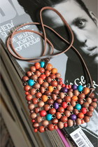 brown CrossWoodStore necklace
