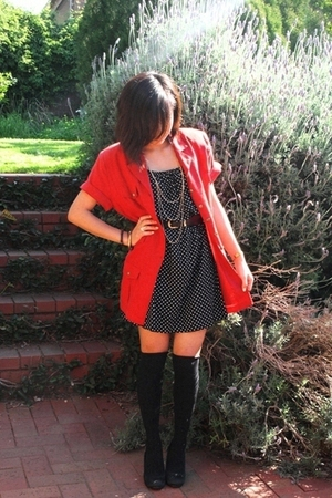 jacket - dress - socks - necklace