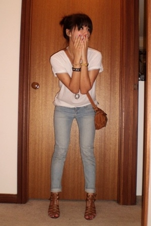 cotton on t-shirt - Sportsgirl jeans - shoes - necklace - bracelet