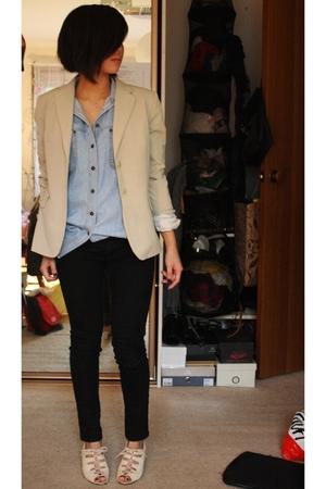 blazer - shirt - jeans - shoes