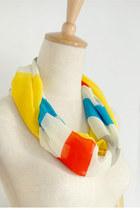 rainbow chiffon CrossWoodStore scarf