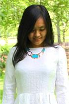 aquamarine short turquoise CrossWoodStore necklace