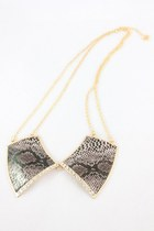 brown snakeskin print CrossWoodStore necklace