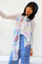 Spring Forest Print Luxurious Silk Long Scarf SD16