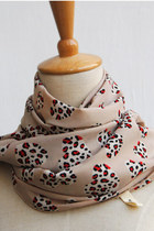 light pink leopard print CrossWoodStore scarf
