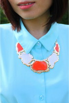orange CrossWoodStore necklace