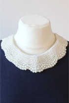white pearl collar CrossWoodStore accessories