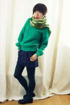 olive green winkled CrossWoodStore scarf - dark green loose Glamorous jumper