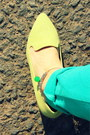 Green-anklet-crosswoodstore-bracelet-lime-green-low-heel-asos-heels
