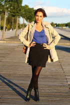 salsa jacket - Diesel boots - Zara shirt - pull&bear bag - H&M skirt