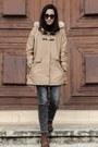 Brown-la-redoute-boots-camel-mango-coat-charcoal-gray-mango-jeans