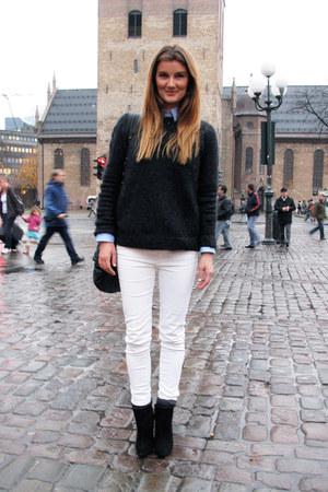 Vanessa Bruno for La Redoute sweater - Zara boots - zipper details Zara jeans
