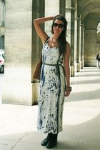 GINA TRICOT sunglasses - second hand shoes - COS dress - Glitter bracelet