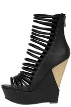 HeartSoul Gerri Wedge -Black Burnish