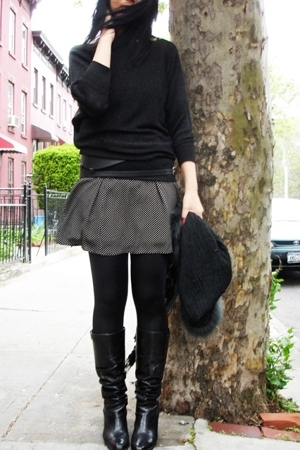 Kenneth Cole - wrap - laundry dress - boots