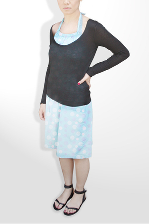 Cacharel top - Petit Bateau with prints by Unocosa dress - swimwear - Cynthia Vi