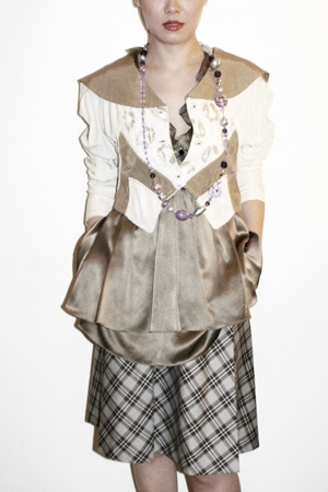 vintage jacket - Unocosa dress - necklace - Sample skirt