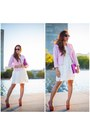 Ivory-forever-21-dress-bubble-gum-pink-ann-taylor-blazer