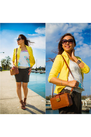 tawny crossbody E Collection bag - yellow Forever 21 blazer