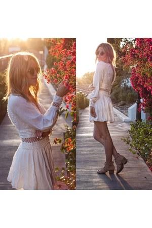 white boho dress free people dress