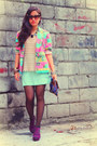 Pink-vintage-blazer-blue-kultura-filipino-purse-self-made-skirt