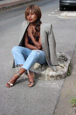Mango blazer - Levis jeans - Chloe heels
