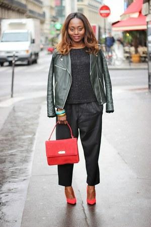 Kookai blazer - Zara swimwear - Dimension pants - Zara heels