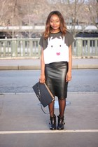 bimbaylola bag - Janetjanet shoes - vintage skirt - asoscom t-shirt