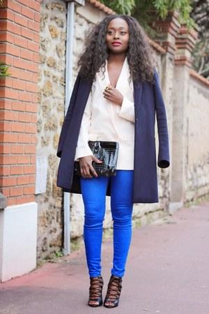 Primark blazer - Zara shoes - Maje coat - Primark jeans