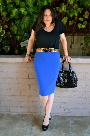 blue Jones New York skirt - black H&M shirt