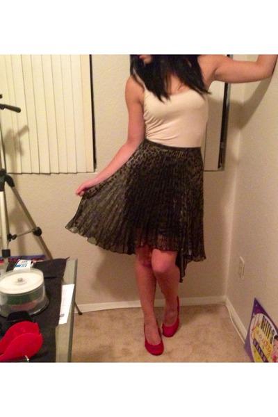 army green Topshop skirt