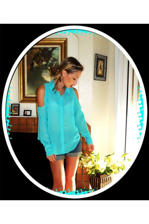 sky blue Nollie blouse - sky blue Nollie blouse