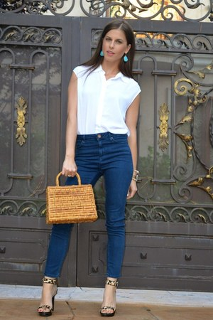 Henri Bendel bracelet - denim Topshop jeans - BCBGeneration top