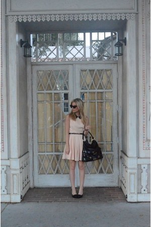 Louis Vuitton heels - Topshop dress - Burberry bag