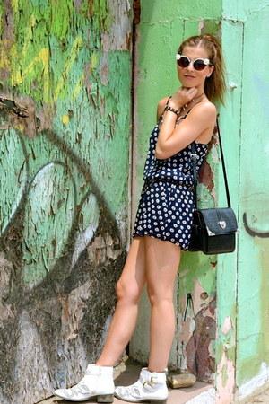 balenciaga bracelet - Boots by Bronx boots - vintage purse