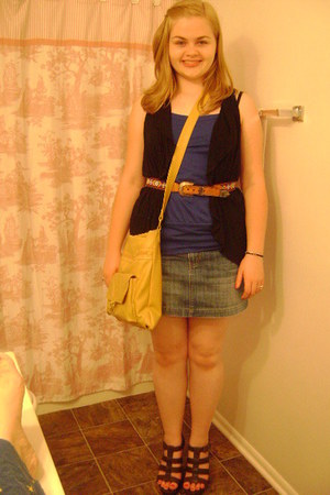 Aeropostale skirt - Avenue purse - LEI top - xhilaration wedges