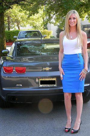 blue Alexander McQueen skirt - black Christian Louboutin shoes