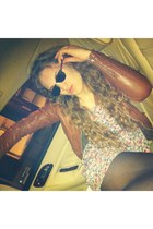 sunglasses accessories - floral dress dress - jacket