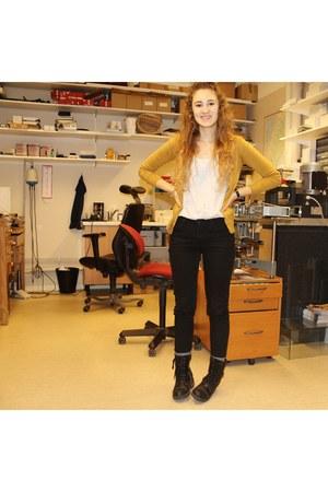 Vero Moda cardigan - black  comty GINA TRICOT jeans