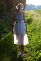 cream silk handmade skirt - cream silk handmade top