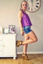 wedges - shorts - top