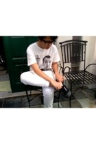 2k by gingham t-shirt - Mango jeans - viktor & rolf glasses - Bata shoes