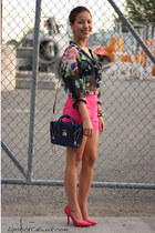 floral print H&M blouse - 31 Phillip Lim bag - Zara pumps